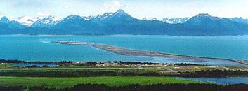 Homer Spit in Kachemak Bay, Homer Alaska